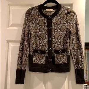 Tory Burch Patch elbow cardigan XS